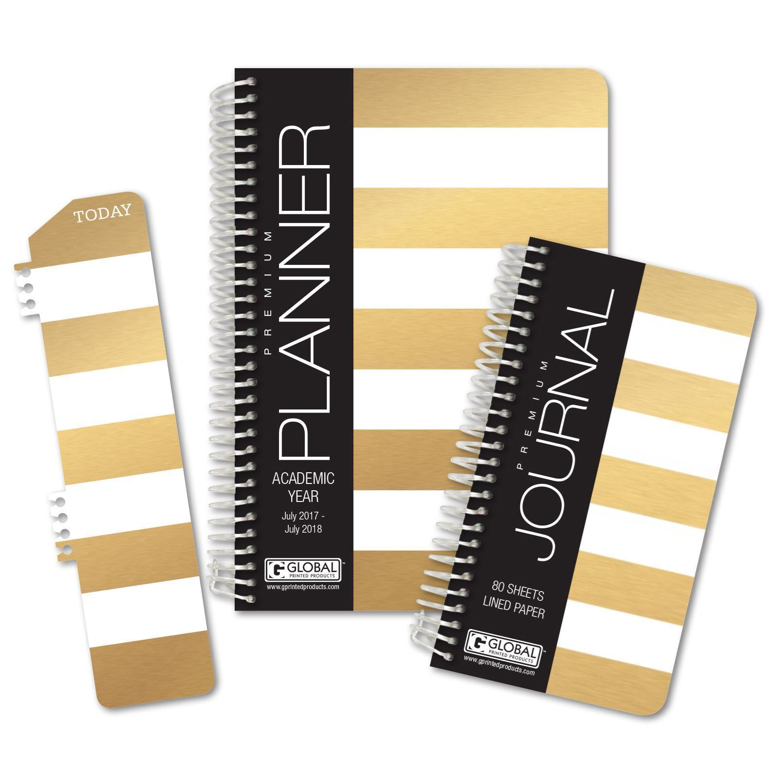 Picture of Academic Year Fashion Planner Daily Set (Gold Stripe)