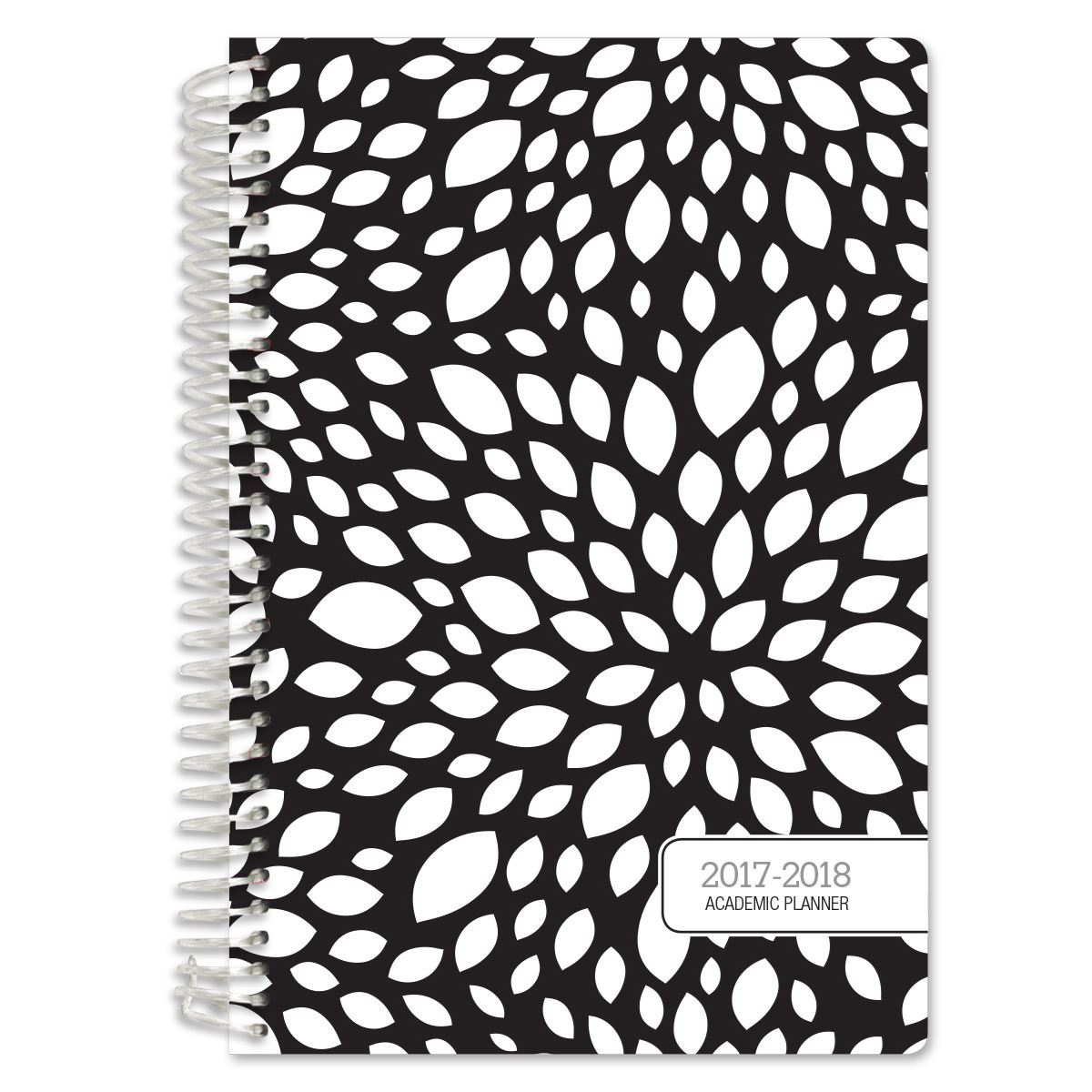 Picture of Academic Year Fashion Planner Daily Set (Black Floral Pattern)