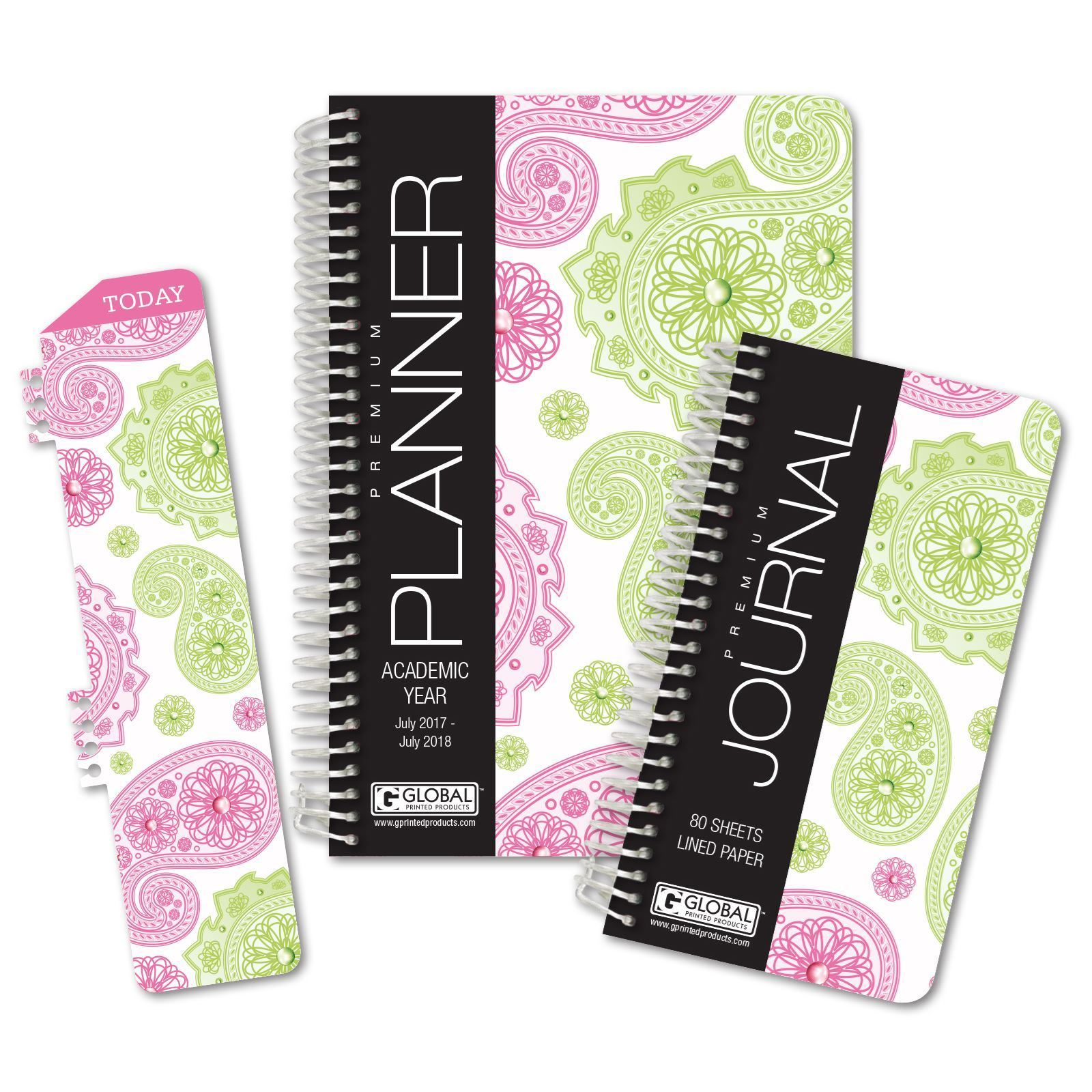 Picture of Academic Year Fashion Planner Daily Set (Paisley Pattern)