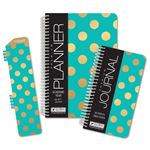 Picture of Academic Year Fashion Planner Daily Set (Gold Dot Turuoise Pattern)