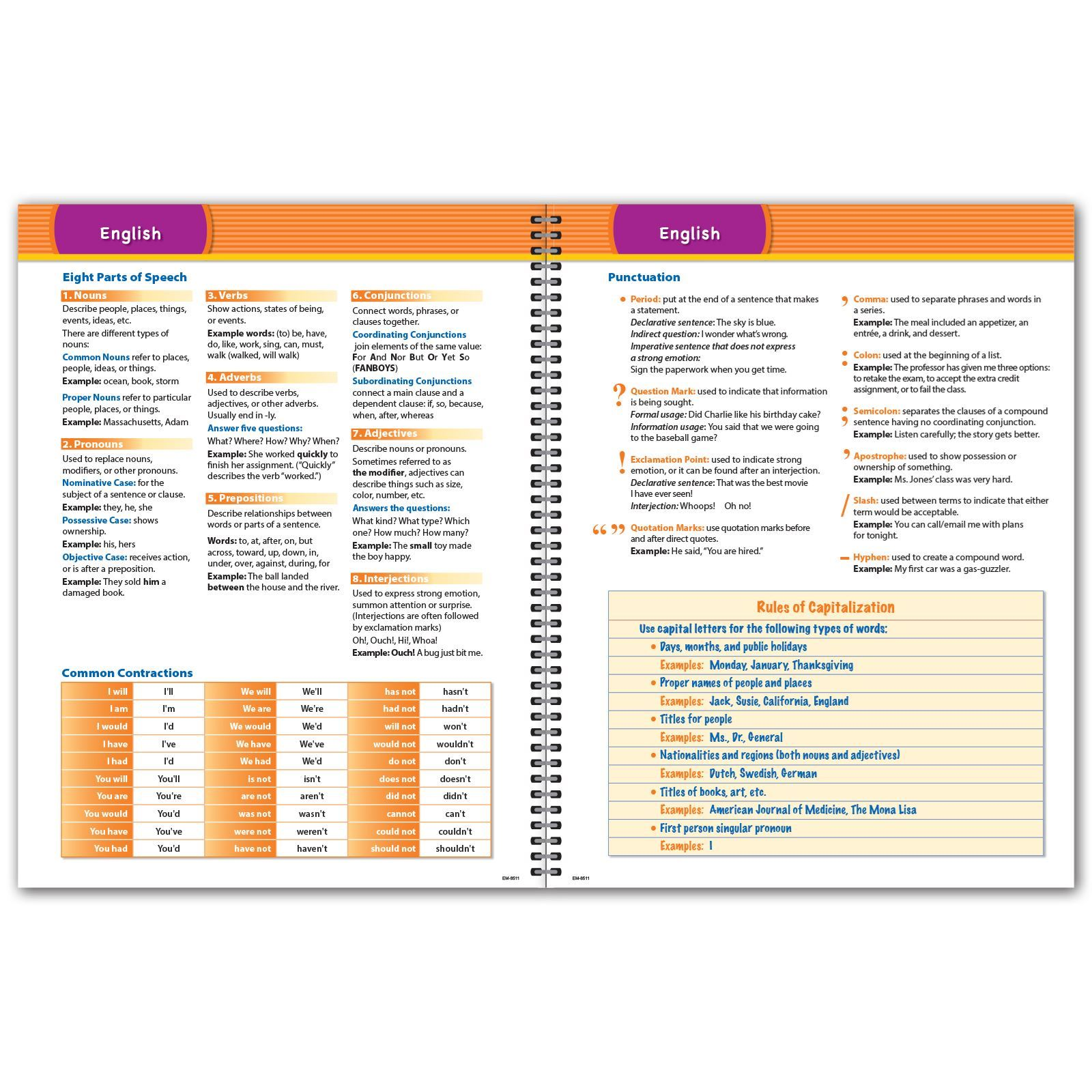 Picture of Elementary Matrix 8.5x11 Student Planner (Cover 3)