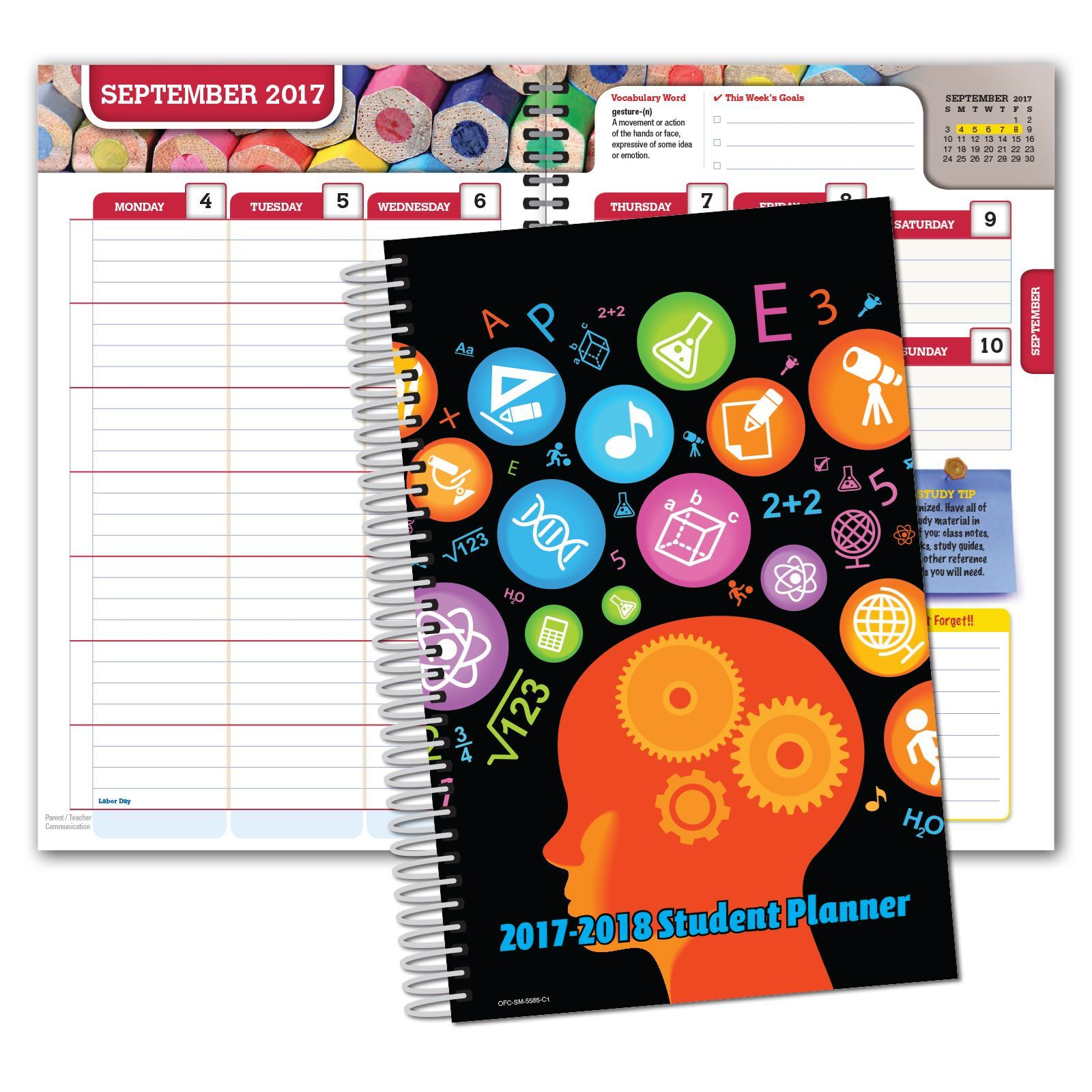 Picture of Secondary Matrix 5.5x8.5  Student Planner (Cover 1)