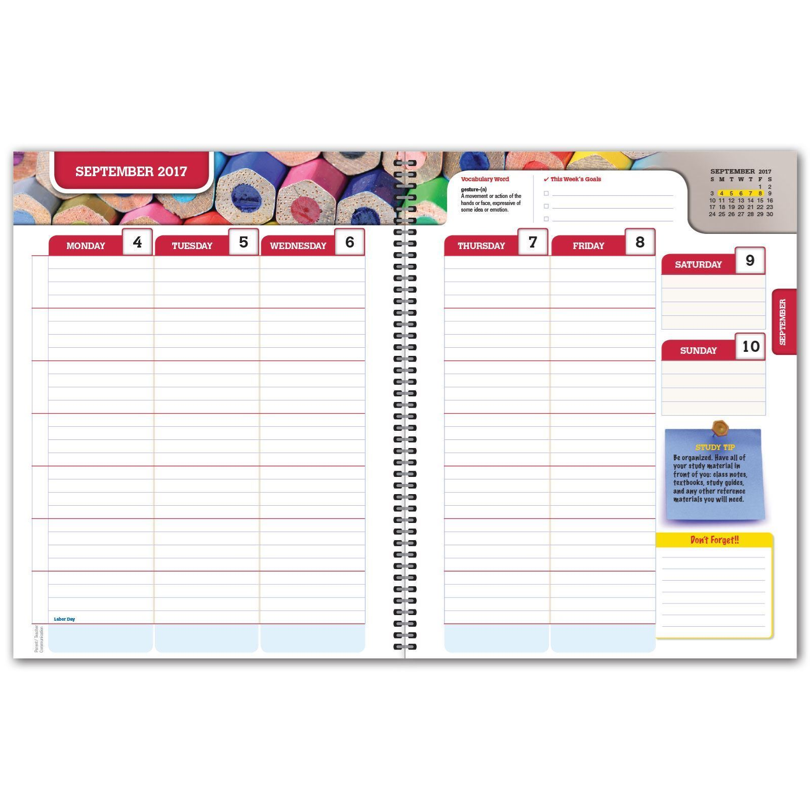 Picture of Secondary Matrix 7x9 Student Planner (Cover 1 )