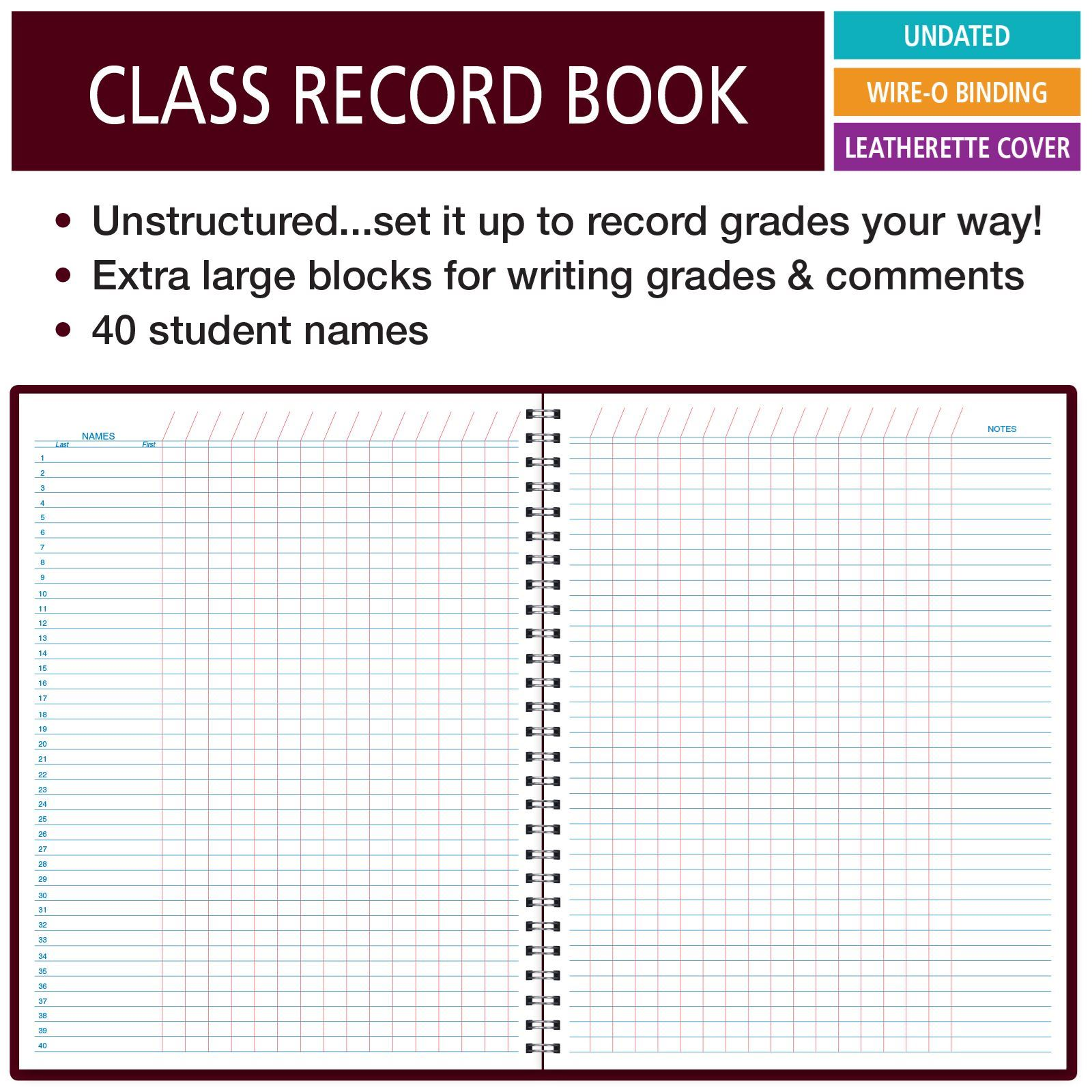 Picture of Class Record Book Unstructured