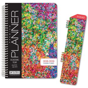 photo about Hardcover Daily Planner referred to as HARDCOVER Instructional Calendar year Planner 2018-2019 (Colourful)