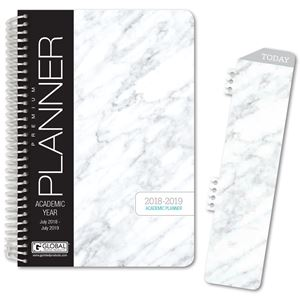 Picture of HARDCOVER Academic Year Planner 2018-2019 (Grey Marble)