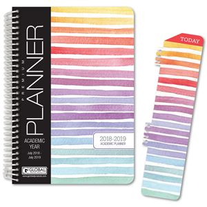 Picture of HARDCOVER Academic Year Planner 2018-2019 (Pastel Stripes)