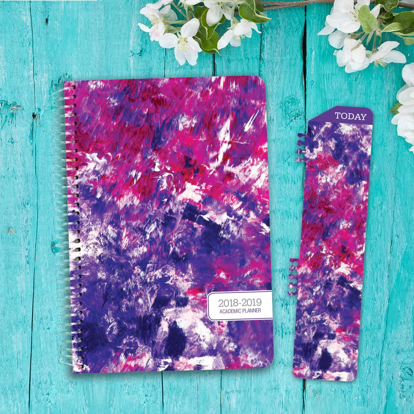 Picture of HARDCOVER Academic Year Planner 2018-2019 (Purple Art)
