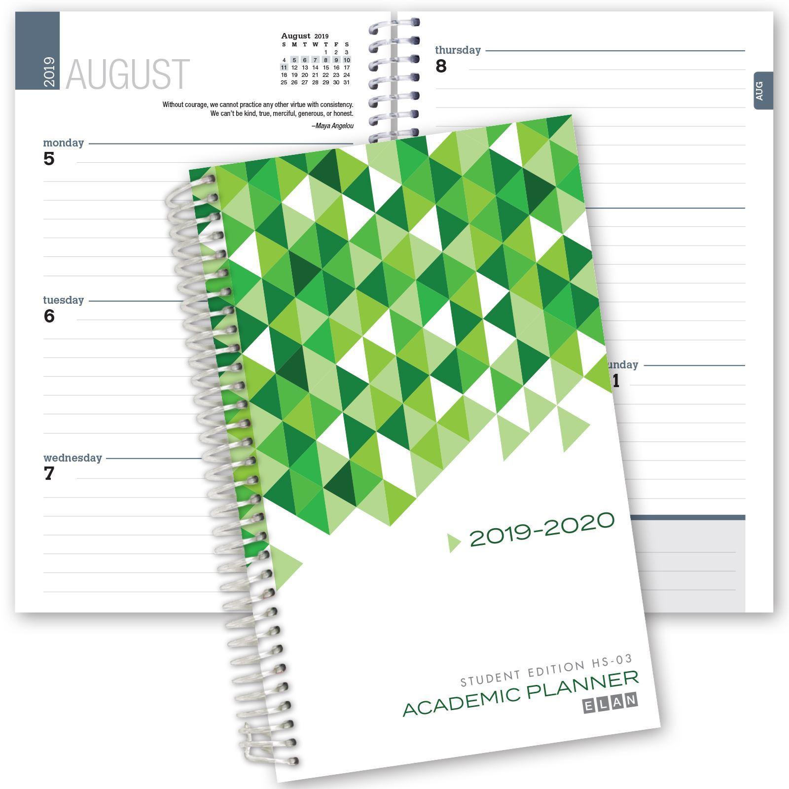 Picture of Dated Student Planner for High School of College for Academic Year 2019-2020