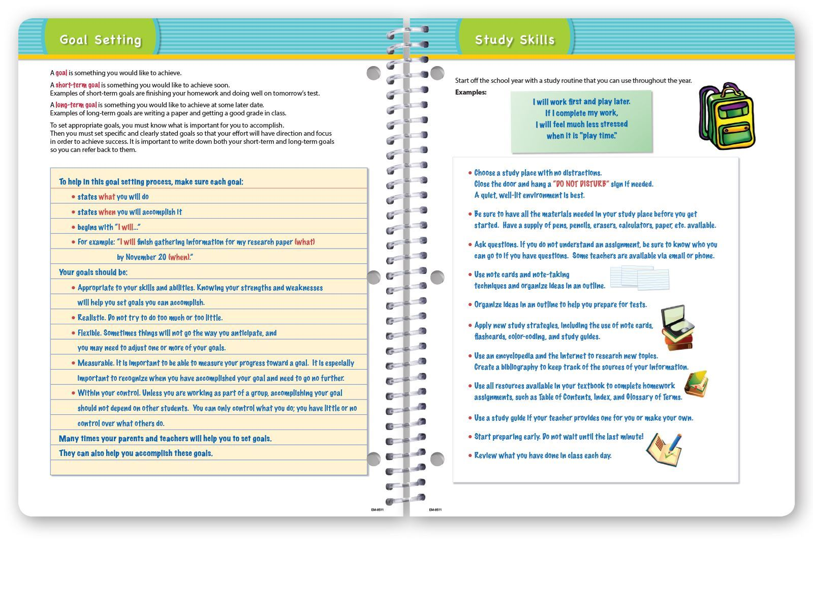 Picture of Dated Elementary Matrix Student Planner for Academic Year 2019-2020
