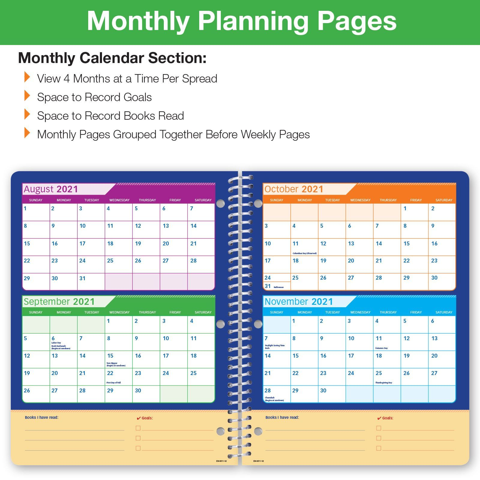 Picture of Dated Elementary Matrix Student Planner for Academic Year 2021-2022