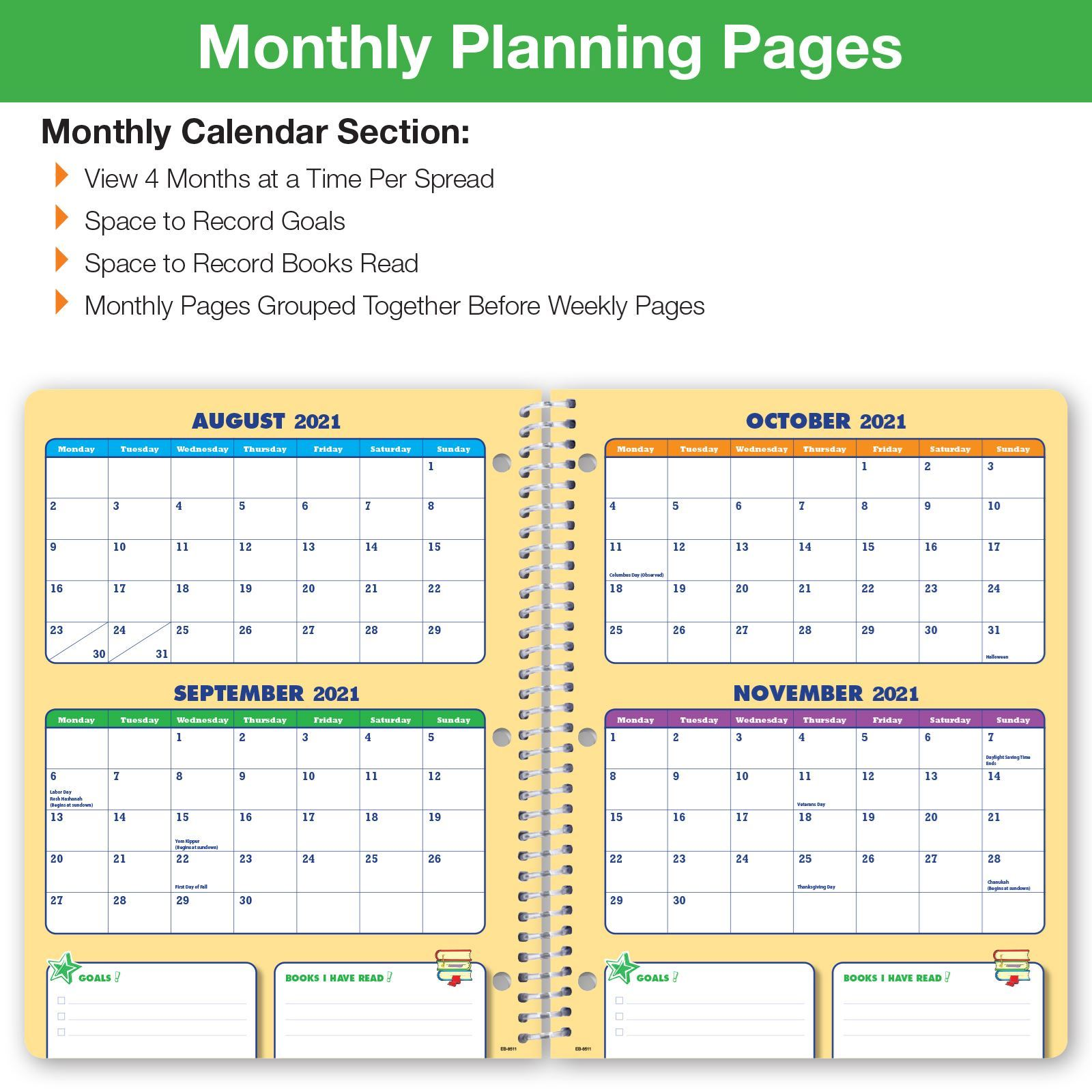 Picture of Dated Elementary Block Student Planner for Academic Year 2021-2022